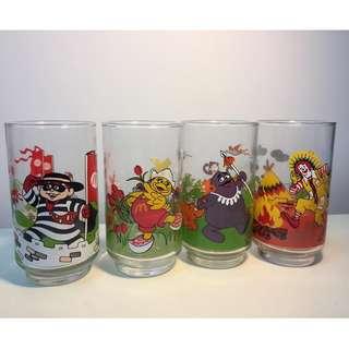 絕版 麥當勞 玻璃水杯 全套4隻  $200