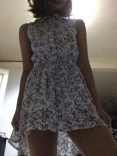 black and white floral dress 💕