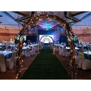 Wedding decoration walkin aisle (Fairmont Ballroom/Shangri-la Ballroom/Grand Hyatt)