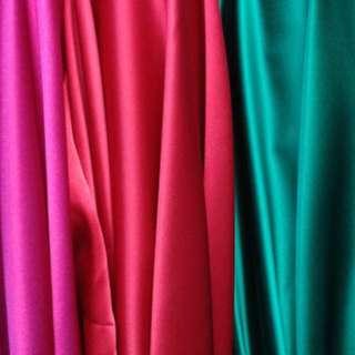 Silk Charmeuse Satin Fabric, MULTIPLE COLORS