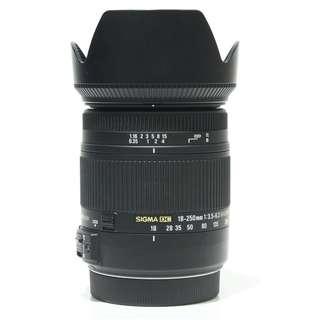 Sigma 18-250mm F3.5-6.3 DC Macro OS HSM for Canon (Sigma Malaysia)
