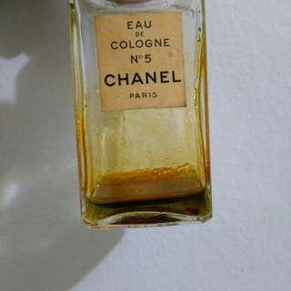 Vintage Chanel No 5 eau de cologne please read
