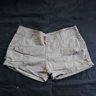 Khaki Thin Shorts