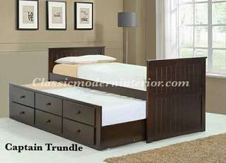 Brand new Single Trundle bed frame with Drawer
