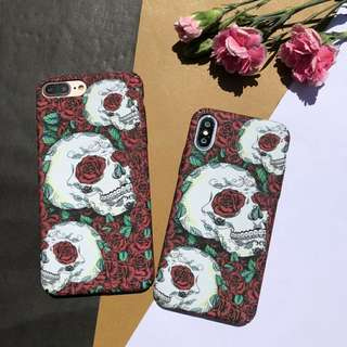 Rose Skull GID Phone Case For iPhone 6/7/7Plus/8/8Plus/X