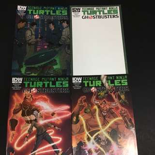 TMNT/ Ghostbusters 1 to 4 IDW Comics Book Teenage Mutant Ninja Turtles Movie