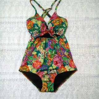 1 pc tie swimsuit