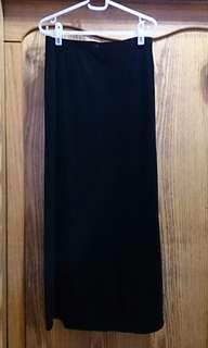 🚚 RAGAZZA 法國製 黑色絨布長裙