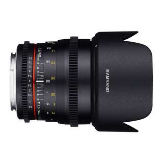 Samyang 50mm T1.5 AS USM Cine Lens (E-Mount). 1 Year Warranty from DSC World Sdn Bhd