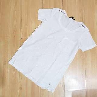 Plains & Prints White Oversized Top