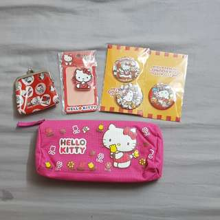 Hello kitty pencil case, key cover, small coin purse