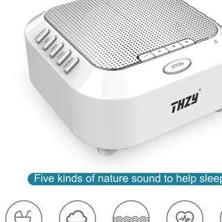 White Noise Machine,THZY Portable Sleep Sound Machine with 5 Noise Options and Nightlight Mode,3 Timers and Rechargeable Playing All Night for Baby,Kids, Adults -- 710