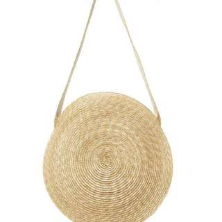 Round rattan handmade knitted bag