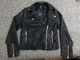 Pleather Jacket w/ removable fo fur