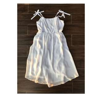 Asos UK 14 White Chiffon Maternity Dress