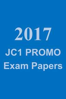 2017 JC1 Promotional Exam Paper / Promo exam paper / test papers / topical revision package and notes (soft copy) / A Level Prelim Papers / Promo Paper / exam paper  - JC1 Biology Maths Chemistry Economics / H1 Math Promo