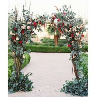 Wedding decoration rustic enchanted forest arch