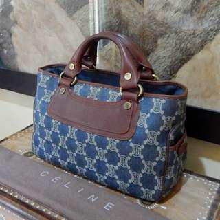 SALE!!! CELINE mono denim & leather boogie handbag