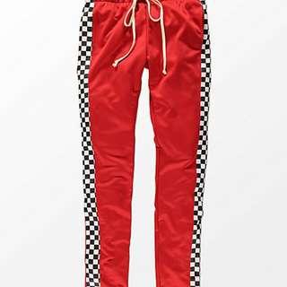 EPTM. Racing Checker Red Track Pants