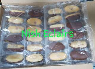 Frozen Chocolate Mini Eclairs