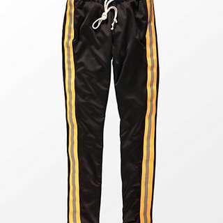 EPTM. Reflective Black & Orange Track Pants