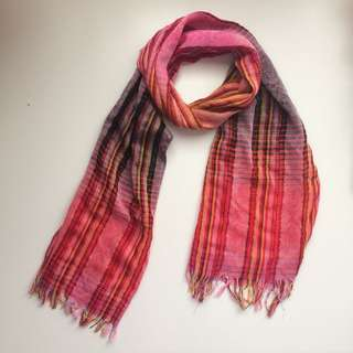 Pink and Gold Scarf