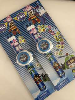 Robocar poli projector watch - children party goodies bag packages, goody bag gift