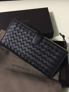 New! Authentic Bottega Veneta Leather Intrecciato Nappa Continental Wallet
