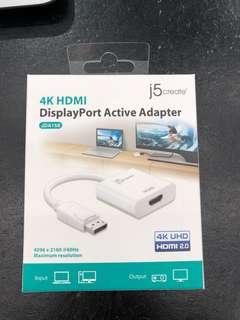 J5 create 4K HDMI display port