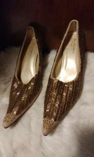 D & G Silk beaded pumps (7.5)
