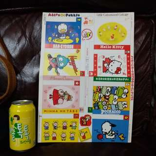 Pekkle 水怪Hangyodon大口仔Marron Cream Keroppi Pochacco 日本絕版1991卡紙