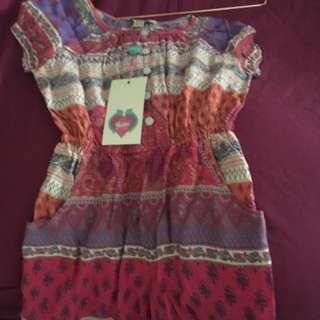 Yumi girls boho play suit