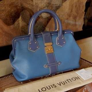 SALE!!! LOUIS VUITTON blue suhali l'ingenieux PM bag