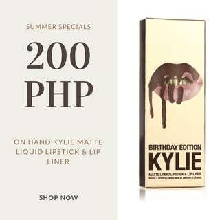 Kylie Matte Liquid Lipstick and Lip Liner