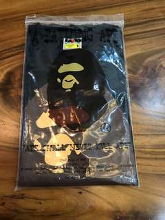 *A Bathing Ape* Bape Head Black Tee