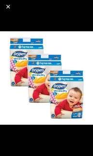 Drypers wee wee dry diapers L 62 large