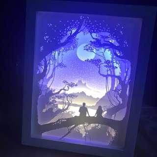 (現貨) 紙雕燈 文青 氣氛 小夜燈 情調 浪漫 情人節 週年 生日 紀念 禮物 慶祝 結婚 求婚