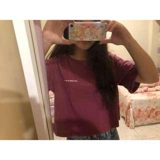 野莓色短版上衣