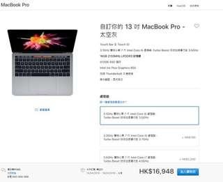 100%新 MacBook Pro 13 inch 16gb ram
