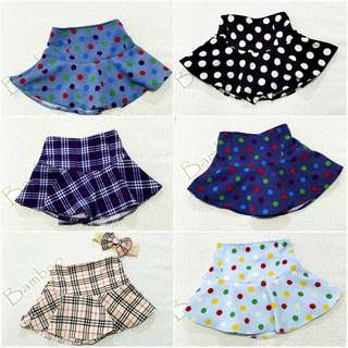Assorted mini skirt with safety pants