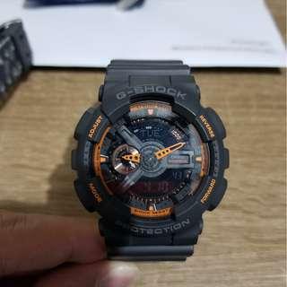 G-SHOCK GA-110TS 黑橙