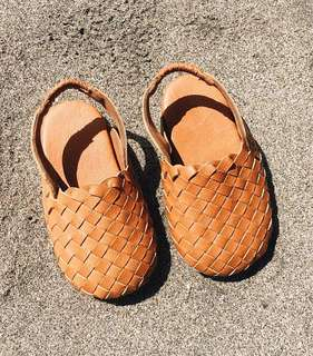 🚚 Woven Leather Shoes for Babies, Toddlers and Kids