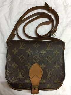 Authentic Vintage Louis Vuitton Monogram Cartouchiere PM