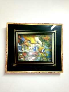 擬油畫🌇3D立體浮雕畫