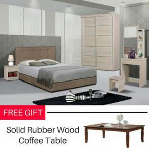 Limited offer!! Queen bedroom set + coffee table