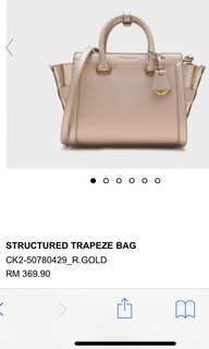Charles & Keith Original Structured Trapeze Bag