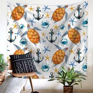 (200×150cm) Beach Theme Tapestry