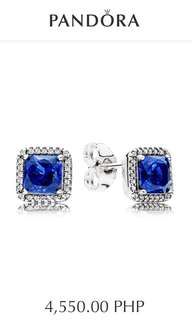 Pandora Blue Timeless Elegance Stud Earrings