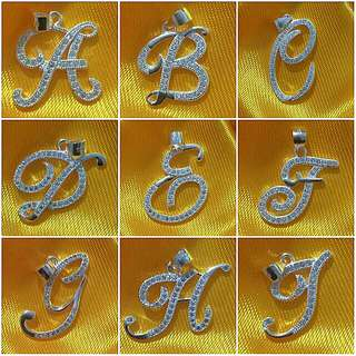 925 Italy silver initial pendants