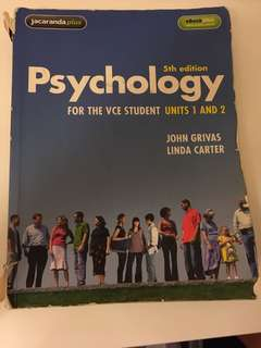 Psychology for the vce student units 1 and 2